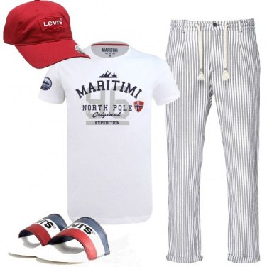 Outfit Ciabattine casual