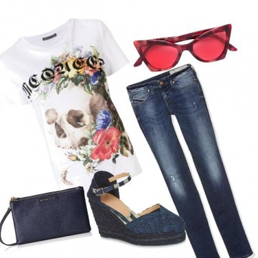 Outfit #redandrock#