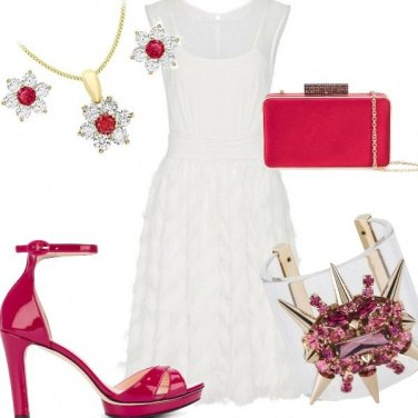 Outfit Cerimonia candida + colore