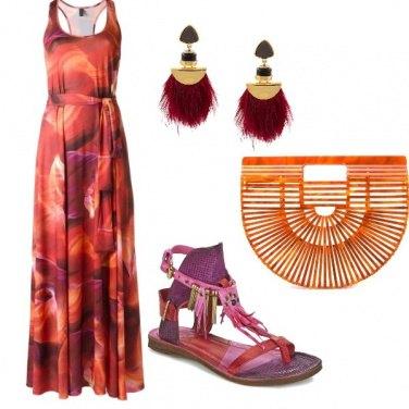 Outfit I colori del tramonto estivo