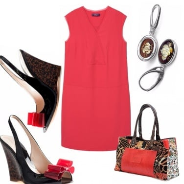 Outfit Curvy in rosso