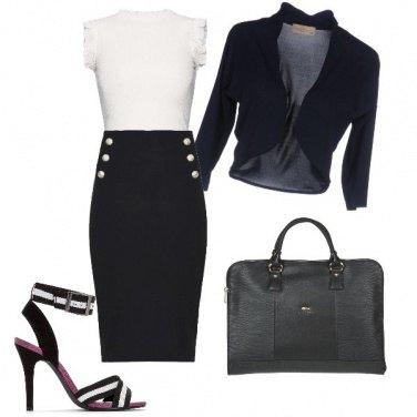 Outfit Ufficio in black and white