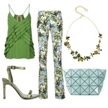 Outfit Aperitivo in verde