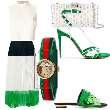 Outfit Gonna tricolore