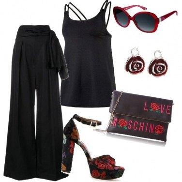 Outfit Un accenno di rosso
