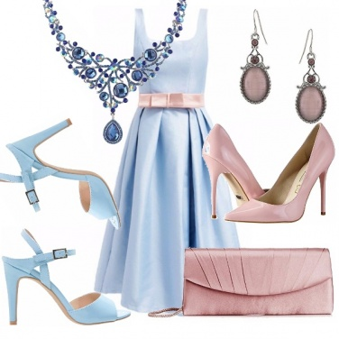 Outfit Dream in sky blue and pink