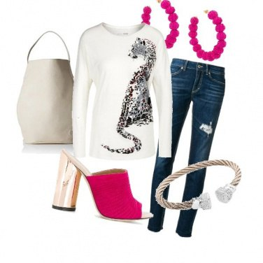 Outfit T-shirt animalier