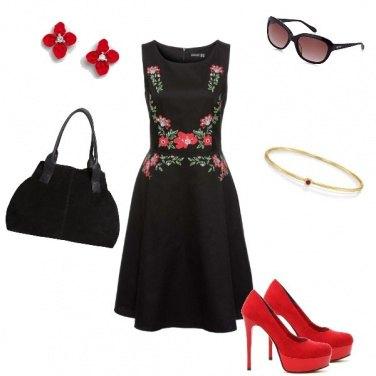 Outfit Rosso in abito da sera