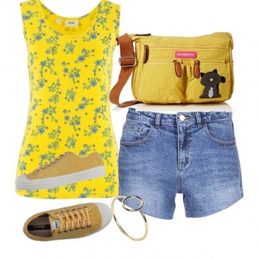 Outfit Jellow, flowers