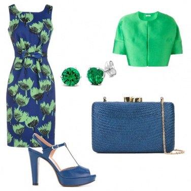 Outfit Cerimonia in blue e verde