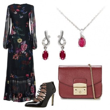 Outfit Lungo in fiore