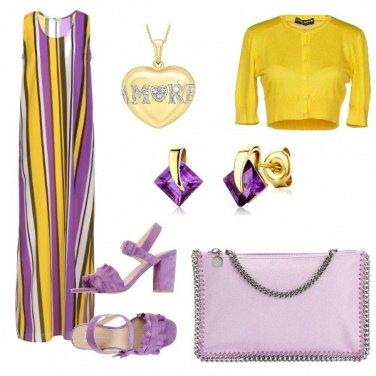 Outfit Oro e lilla