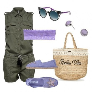 Outfit Playsuite and violet