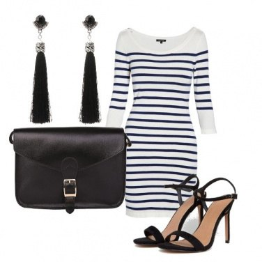Outfit Le righe sul bianco