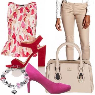 Outfit Tacco rosso o tacco rosa?