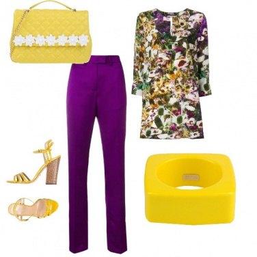 Outfit Accessori colore del sole.