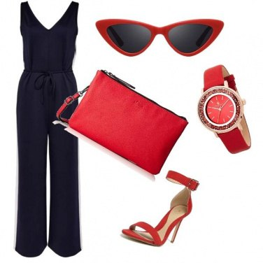 Outfit Blu & Red