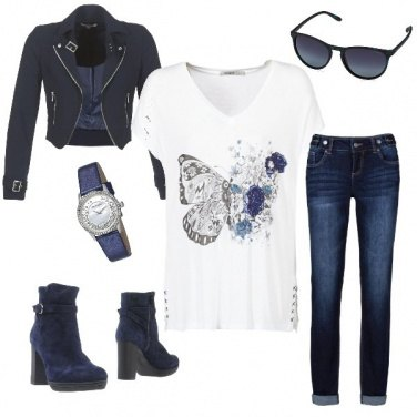 Outfit Rock in blu