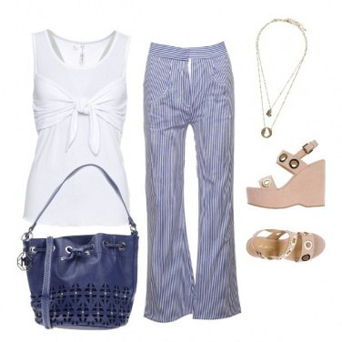 Outfit Millerighe blu