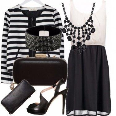 Outfit Eleganza in bianco-nero