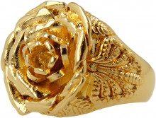 Anello Rosa In Finitura Oro Giallo