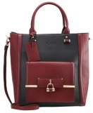 Shopping bag - black/wine