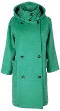 Cappotto verde lungo con cappuccio JADE