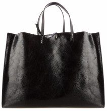 Borsa in ecopelle metallizzata Black