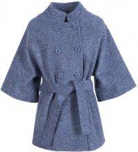 Cappotto doppiopetto in lana cotta con cinturino AZZURRO 29