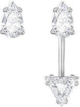 Swarovski 5274078 - Orecchini da donna rodiati, con cristalli, 1,5 cm, colore: bianco
