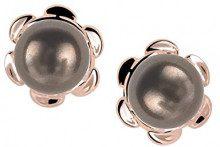 ORPHELIA dreambase-orecchini 925 argento rodiato perla taglio rotondo - ZO-6021/1