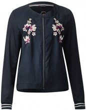 Street One Embroidered Jacket, T-Shirt Donna, Blau (Night Blue 10109), 46 (Taglia Produttore: 40)