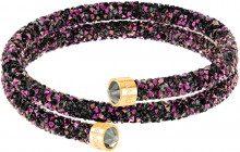 Bangle doppio Crystaldust, multicolore, placcatura oro