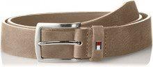 Tommy Hilfiger New Denton Nubuck Belt 3.5, Cintura Uomo, Beige (Pumice 903), 9 (Taglia Produttore: 105)