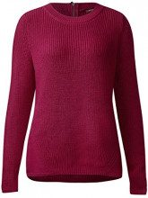 Street One Round Neck Pullover with Zip, Felpa Donna, Rosa (Funky Pink 11019), 50 (Taglia Produttore: 44)