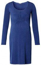 Noppies Dress LS Jonna, Vestito maternità Donna, Blu (Medium Blue C145), 38