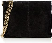 PIECES Pclichi Suede Cross Body - Borse a spalla Donna, Schwarz (Black), 7x24x32 cm (L x H D)
