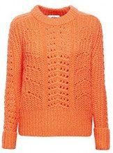 edc by Esprit 108cc1i005, Felpa Donna, Arancione (Coral Orange 870), Large