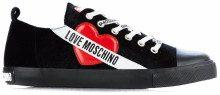 Sneaker in velluto Black