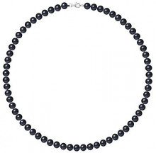 Pearls & Colors Collier Donna - AM18-COL-AG-POT67-M-BL
