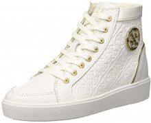 Guess Grace, Sneaker a Collo Alto Donna, Bianco White, 40 EU