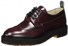 Marc O'Polo Lace Up Shoe 70814263401112, Scarpe Stringate Brouge Donna, Rot (Bordo), 41 1/3 EU