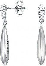 ESPRIT EssentialESER93036A000–Orecchini pendenti da donna, ES-Grand Style, in argento 925rodiato con zirconi trasparenti