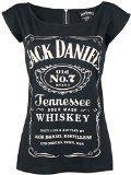 Jack Daniel's - Canotta con chiusura lampo sulla parte posteriore, taglia L, colore: Nero