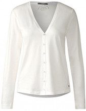 Cecil 312411, Cardigan Donna, Weiß (Pure Off White 10125), Small