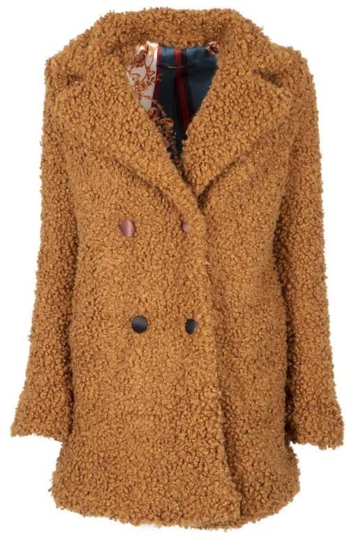 Cappotto in lana cotta con bottoni colorati BRUCIATO  b9697b50b674