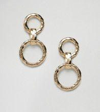 Orecchini pendenti a cerchio intrecciati oro