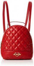 Love Moschino Borsa Quilted Nappa Pu - Borse a zainetto Donna, Rosso, 9x19x22 cm (B x H T)