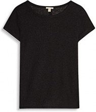 ESPRIT 057ee1k004, T-Shirt Donna, Nero (Black), 38 (Taglia Produttore: Medium)