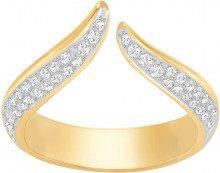Anello Groove Narrow, bianco, placcatura oro